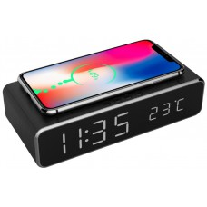 Hotel digital alarm clock with wireless charging function (IOS, Android)