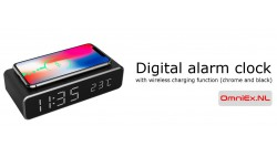 Hotel Digital alarm clock with wireless charging